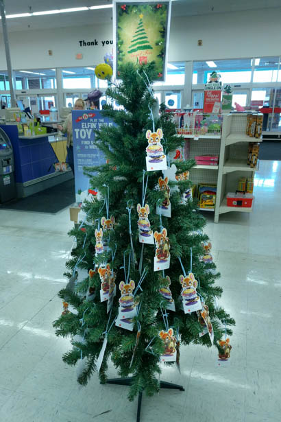 Salvation Army Angel Tree near the front of the Highway 248 store in Branson.